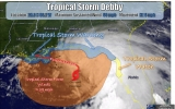 Tropical Storm Debby Threatens Gulf Coast