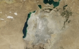 Drought Drains Already Diminished Aral Sea