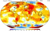 NASA Ranks This August as Warmest on Record