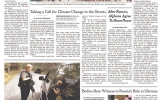 People's Climate March Makes Front-Page News