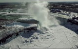 Freeze Frame: Drone Captures Niagara Falls on Ice